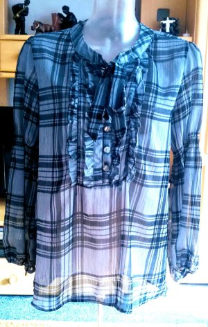 Damen Bluse Kariert Edel Gr.M in Blau/Petrol von Orsay NW