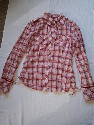 Esprit Blusa a cuadros blanco-rojo Algodón