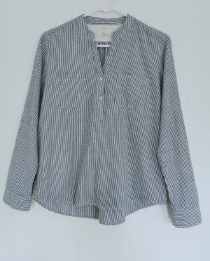 Damen Bluse langärmelige blaue-weiß gestreift Gr.34 XS