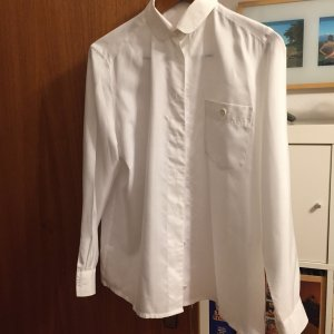 Mario Rosella Glanzende blouse wit