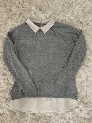 Athmosphere Colletto camicia grigio-bianco