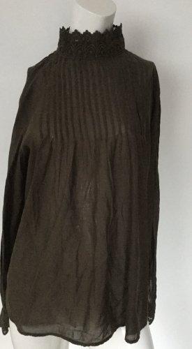 Damen Bluse mit Stehkragen