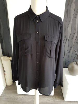 Damen Bluse Schwarz Größe 38 Von H&M