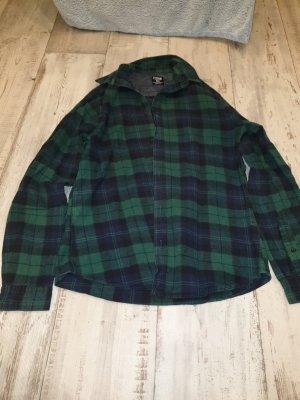 FSBN Geruite blouse zwart-bos Groen