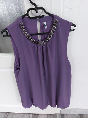 Damen Bluse Top Oberteil in Lila Grauviolett gr.M L