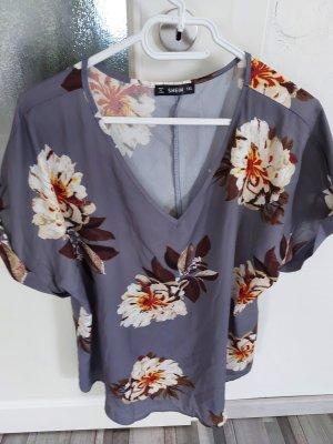 Damen Bluse Top Oberteil mit Blumenmuster gr.xl xxl