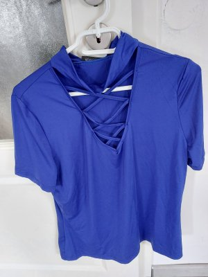 Damen Bluse Top Oberteil Tshirt in Blau gr.M L
