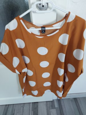 Damen Bluse Top Oberteil Tshirt in Orange gr.L XL