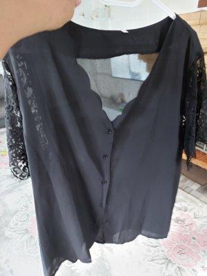 Sheinside Blusa in merletto nero