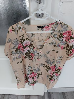 Damen Bluse Top Shirt in Beige gr.L XL