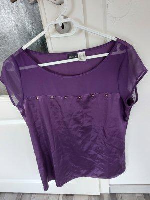 Damen Bluse Top Shirt in Lila gr.40
