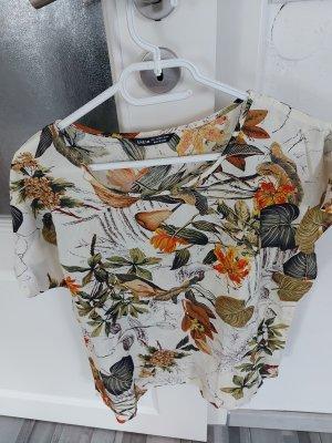 Damen Bluse Tshirt Top mit Blumenmuster gr.M L