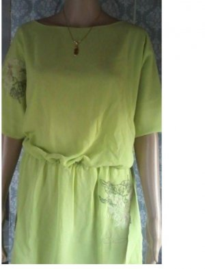 Bodyflirt Short Sleeved Blouse lime yellow polyester