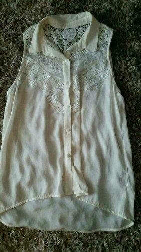 Damen Bluse Weiss mit Spitze von H&M Gr.S