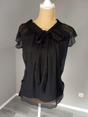 Top koszulowy czarny