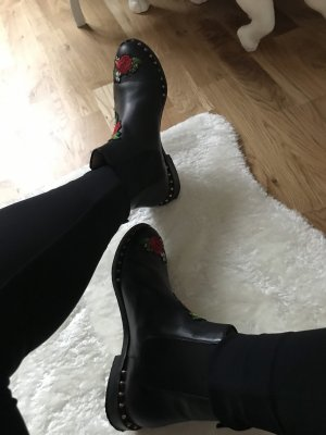 Charlotte Olympia Ankle Boots black leather