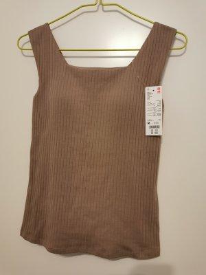 Uniqlo Off-The-Shoulder Top beige