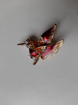 Broche multicolor metal
