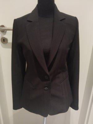 Damen Business Blazer Anzug Sakko - schwarz - Knöpfe - Größe 36