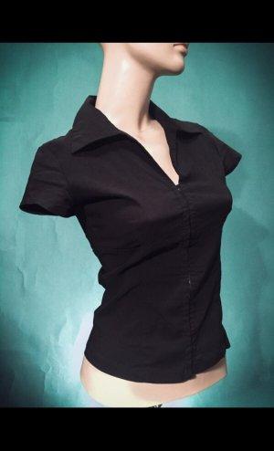 Damen C&A Bluse TOP schwarz XS S 32 34