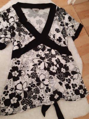 Canda V-Neck Shirt white-black