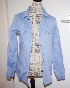 Calvin Klein Camicia a maniche lunghe blu neon Lino