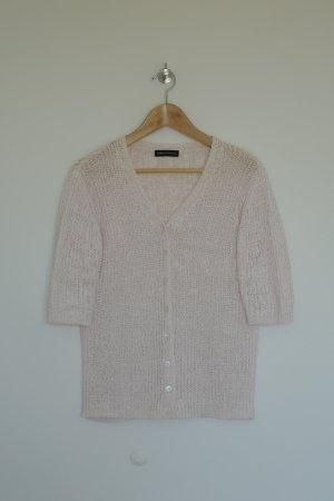 Nice Connection Cardigan in maglia rosa chiaro Cotone