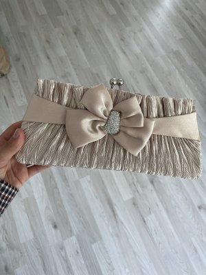 Damen Clutch Beige Hochzeit Tasche