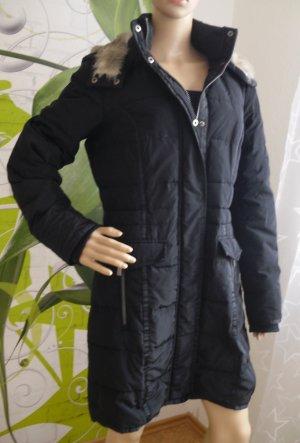 Damen Daunen Jacke / Mantel, schwarz, Gr.38 von s.Oliver (6-AK)
