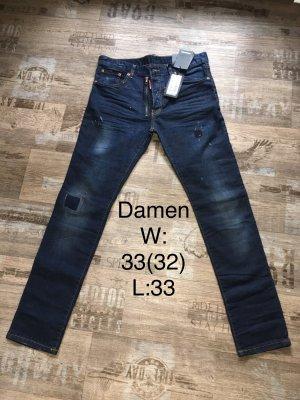 """Damen Designer Jeans """"DSQOTHEQ """"w:33(32) midnight blue"""