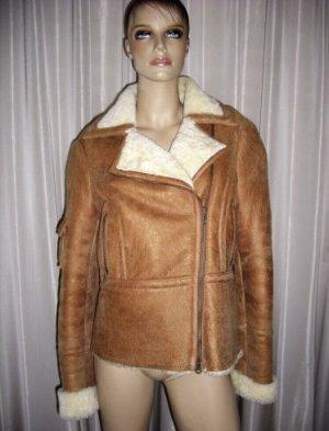 Damen echt Leder Jacke Schafwolle Gr 38 Np 798