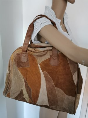 Travel Bag brown-cognac-coloured leather