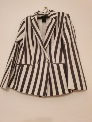 Bruno Banani Long Blazer black-white mixture fibre