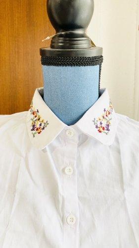 unbekannte Koszula z krótkim rękawem biały