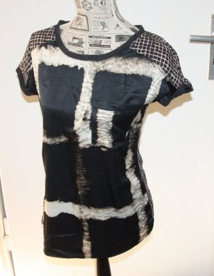 adc by Esprit Short Sleeved Blouse black polyacrylic