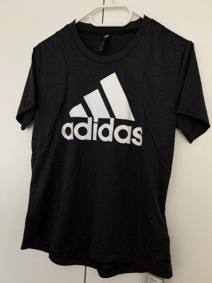 Adidas T-shirt de sport noir-blanc