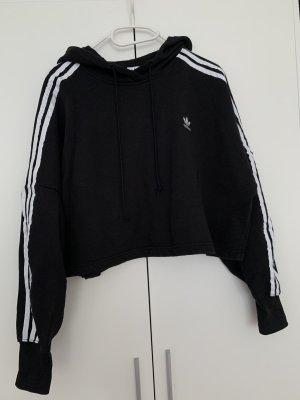 Adidas Sweat à capuche noir-blanc