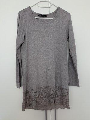 Basic Lang shirt lichtgrijs