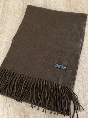 Unbekannte Marke Bufanda de flecos marrón oscuro