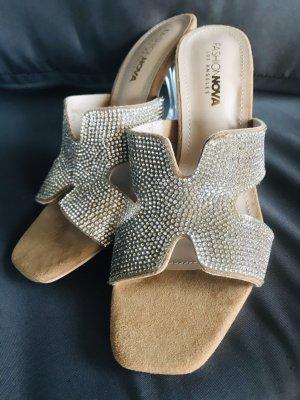 Damen Fashion Strass Glitzer Schuhe 39
