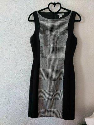 H&M Falda estilo lápiz blanco-negro