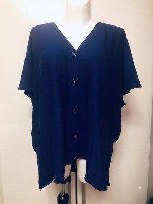 Damen Fledermaus Sweater Shirt blau Viskose Neu 46/48