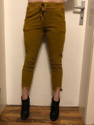 Pantalón tobillero marrón-coñac
