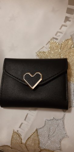 Wallet black-gold-colored
