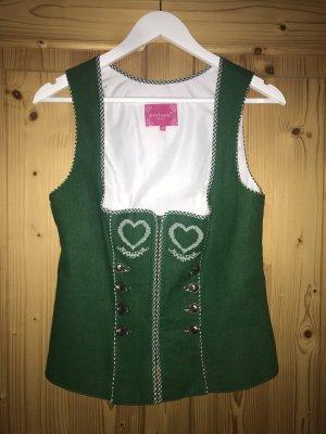 Krüger Tradycyjna bluzka zielony-biały
