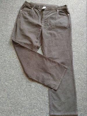 Pantalon en velours côtelé gris foncé coton