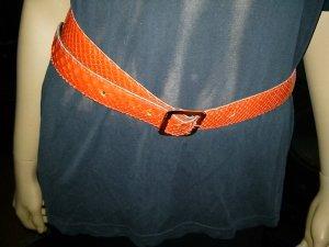 Damen- Gürtel aus Schlangenleder- 85 cm lang - 3 cm breit - rot