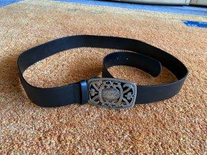 Cintura vita nero-marrone scuro