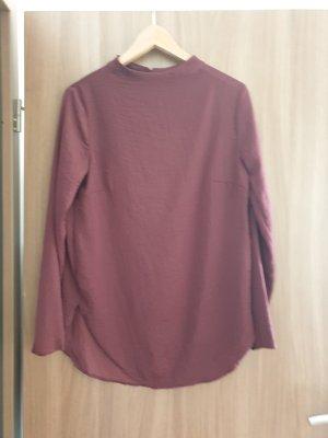 H&M Bluzka tunika brązowo-fioletowy