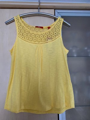 s.Oliver Crochet Top yellow